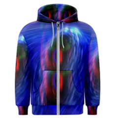 Black Hole Blue Space Galaxy Men s Zipper Hoodie