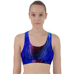 Black Hole Blue Space Galaxy Back Weave Sports Bra by Mariart