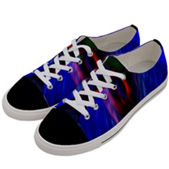Black Hole Blue Space Galaxy Women s Low Top Canvas Sneakers by Mariart