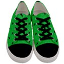 Unicorn Pattern Green Men s Low Top Canvas Sneakers View1