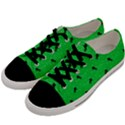 Unicorn Pattern Green Men s Low Top Canvas Sneakers View2