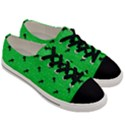 Unicorn Pattern Green Men s Low Top Canvas Sneakers View3