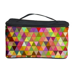 Multicolored Mixcolor Geometric Pattern Cosmetic Storage Case by paulaoliveiradesign
