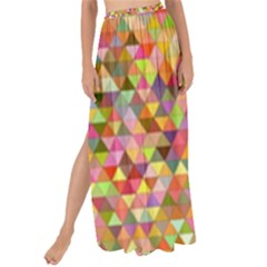 Multicolored Mixcolor Geometric Pattern Maxi Chiffon Tie Up Sarong