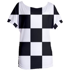 Grid Domino Bank And Black Women s Oversized Tee