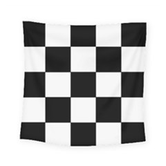 Grid Domino Bank And Black Square Tapestry (small) by Nexatart