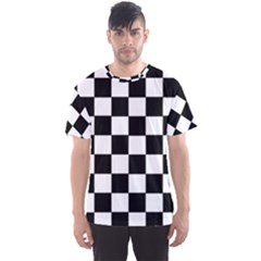 Grid Domino Bank And Black Men s Sports Mesh Tee by Nexatart