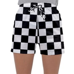 Grid Domino Bank And Black Sleepwear Shorts