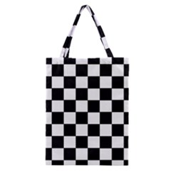Grid Domino Bank And Black Classic Tote Bag by Nexatart