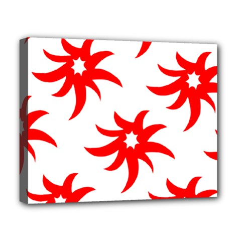 Star Figure Form Pattern Structure Deluxe Canvas 20  X 16