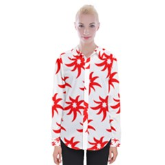 Star Figure Form Pattern Structure Womens Long Sleeve Shirt by Nexatart