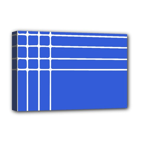 Stripes Pattern Template Texture Blue Deluxe Canvas 18  X 12