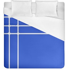 Stripes Pattern Template Texture Blue Duvet Cover (king Size)