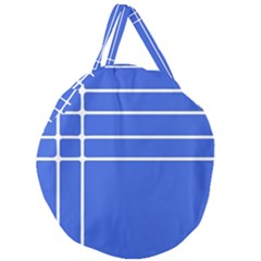 Stripes Pattern Template Texture Blue Giant Round Zipper Tote