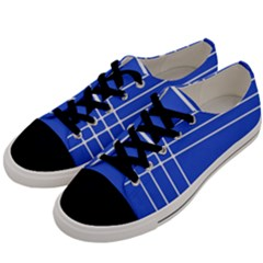 Stripes Pattern Template Texture Blue Men s Low Top Canvas Sneakers by Nexatart