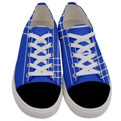 Stripes Pattern Template Texture Blue Women s Low Top Canvas Sneakers