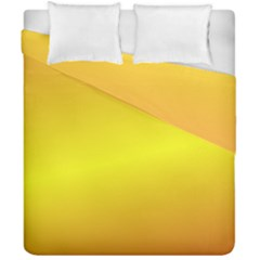 Gradient Orange Heat Duvet Cover Double Side (california King Size) by Nexatart