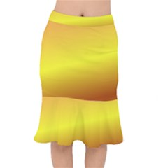 Gradient Orange Heat Mermaid Skirt