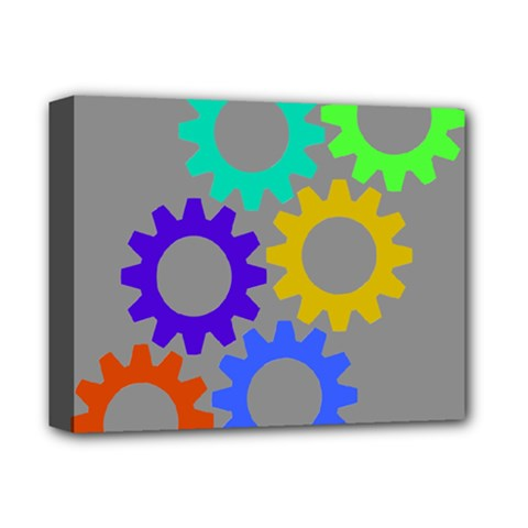 Gear Transmission Options Settings Deluxe Canvas 14  X 11  by Nexatart