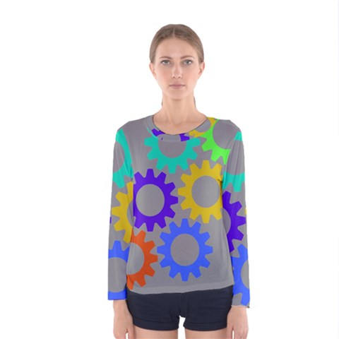 Gear Transmission Options Settings Women s Long Sleeve Tee by Nexatart