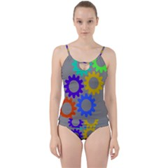 Gear Transmission Options Settings Cut Out Top Tankini Set by Nexatart