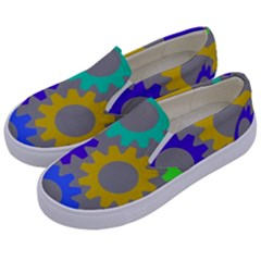 Gear Transmission Options Settings Kids  Canvas Slip Ons by Nexatart