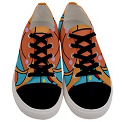 Crab Sea Ocean Animal Design Men s Low Top Canvas Sneakers