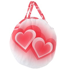 Heart Love Romantic Art Abstract Giant Round Zipper Tote