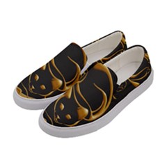 Gold Dog Cat Animal Jewel Dor¨| Women s Canvas Slip Ons by Nexatart