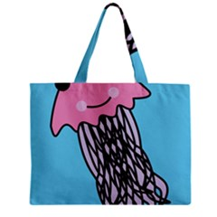 Jellyfish Cute Illustration Cartoon Zipper Mini Tote Bag by Nexatart