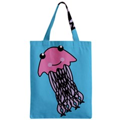 Jellyfish Cute Illustration Cartoon Zipper Classic Tote Bag
