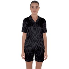 Pattern Dark Black Texture Background Satin Short Sleeve Pyjamas Set