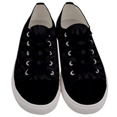 Pattern Dark Black Texture Background Men s Low Top Canvas Sneakers