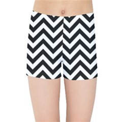 Wave Background Fashion Kids Sports Shorts