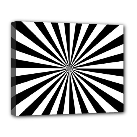Rays Stripes Ray Laser Background Deluxe Canvas 20  X 16   by Nexatart
