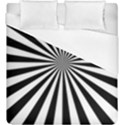 Rays Stripes Ray Laser Background Duvet Cover (King Size) View1