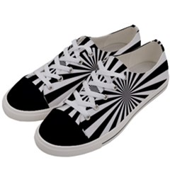 Rays Stripes Ray Laser Background Women s Low Top Canvas Sneakers by Nexatart