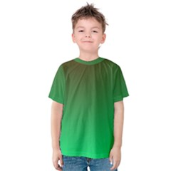 Course Colorful Pattern Abstract Green Kids  Cotton Tee