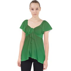 Course Colorful Pattern Abstract Green Lace Front Dolly Top
