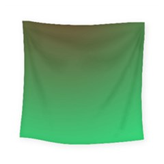 Course Colorful Pattern Abstract Green Square Tapestry (small) by Nexatart