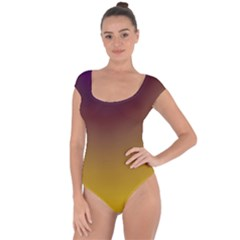Course Colorful Pattern Abstract Short Sleeve Leotard