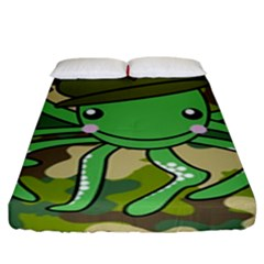 Octopus Army Ocean Marine Sea Fitted Sheet (king Size)