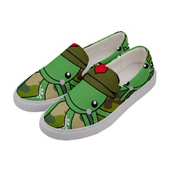 Octopus Army Ocean Marine Sea Women s Canvas Slip Ons by Nexatart