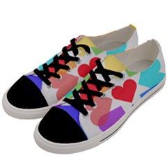 Heart Love Romance Romantic Men s Low Top Canvas Sneakers by Nexatart
