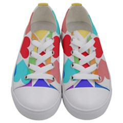 Heart Love Romance Romantic Kids  Low Top Canvas Sneakers