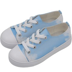 Sky Cloud Blue Texture Kids  Low Top Canvas Sneakers by Nexatart