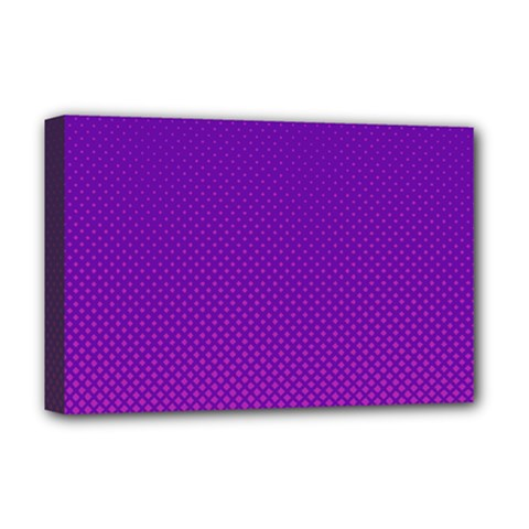 Halftone Background Pattern Purple Deluxe Canvas 18  X 12