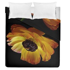 Ranunculus Yellow Orange Blossom Duvet Cover Double Side (queen Size)