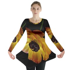 Ranunculus Yellow Orange Blossom Long Sleeve Tunic