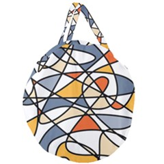 Abstract Background Abstract Giant Round Zipper Tote